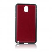 Калъф с кожен гръб – силиконов Fashion Style за Samsung Galaxy Note 3 кафяв