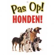 Honden waakbord pas op Honden 21 x 15 cm