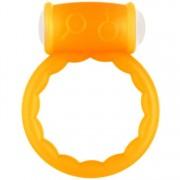 Anello fallico vibrante Toyz4Lovers Fluo Cock Ring Arancione