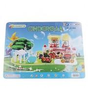 Magideal 3D Paper Construction Kit Kids Building Puzzle Toys - Cinderella