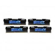 Mémoire LONG DIMM DDR3 G.Skill DIMM 32 GB DDR3-1866 Quad-Kit F3-1866C9Q-32GZH, série RipjawsZ 32 GB CL9 09/09/24 4 barettes