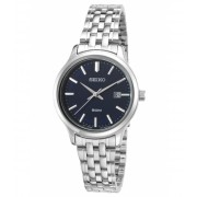 Seiko Watches Neo Classic Stainless Steel Navy Blue Dial - SUR797P1 Navy BlueSilver-Tone
