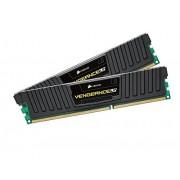 Corsair CML16GX3M2A1600C9 Vengeance Kit di Memoria da 16 GB, 2x8 GB, DDR3, 1600 MHz, CL9, Basso Profilo, Nero