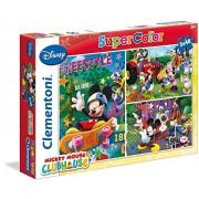 Clementoni - 62412.6 - Puzzles Super Color - 3 x 48 Pièces - Mickey Mouse Club House