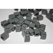 Lego Building Accessories 1 X 1 Dark Bluish Gray Brick, Bulk - 100 Pieces Per Package