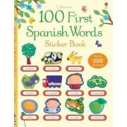 100 First Spanish Words Sticker Book by Mairi Mackinnon