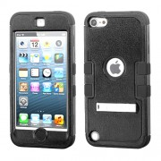 Funda Protector Triple Layer Apple Ipod Touch 5G / 6G Negro - 2 c/pie metalico