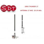 SIRIO THUNDER 27 ANTENNA 27 MHZ 25-29 MHz DA BASE
