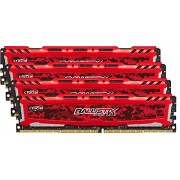 Ballistix Sport LT Kit Memoria da 8 GB (4 GBx2), DDR4, 2400 MT/s (PC4-19200), DIMM 288-Pin, Rosso - BLS2C4G4D240FSE