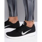 Nike Running Free Run Flyknit Trainers In Black 831069-001 - Black (Sizes: UK 7, UK 7.5, UK 8, UK 6, UK 8.5, UK 6.5)