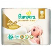 Pampers - Scutece Premium Care 0 New Born Carry Pack 30 buc