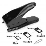 Dual Nano Sim Cutter + Sim Card Adapters