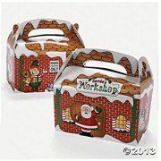 Santas Workshop Christmas Party Favor Treat Boxes