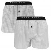 Boxershorts Woven 2-pack Grijs