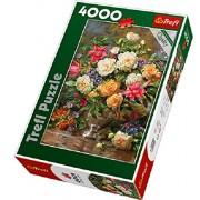 Trefl - 45003 - Puzzle - Fleurs pour Queen Elizabeth - 4000 Pièces