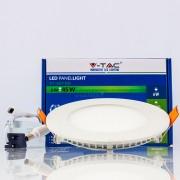 Painel LED SLIM 6W Luz Fria 420Lm redondo