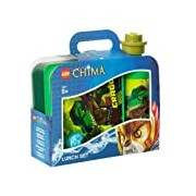 LEGO Licensed 40591719 Collection - Legends of Chima - Cragger Frühs Set with Sandwich Box and Sports Bottle - Green