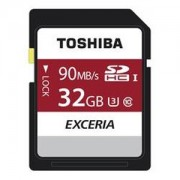Toshiba Exceria 32GB SDHC UHS-3 Memory Card Ideal For Full HD Video & 4K Video Recording - Read Speed 90mb/s For DSLR's, Digital Cameras & Camcorders