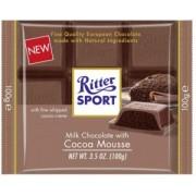 Ciocolata cu Lapte si Crema Usoara de Cacao Ritter Sport 100g