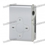Rechargeable écran Clip-On Free Player MP3 w / TF / jack 3,5 mm - Argent