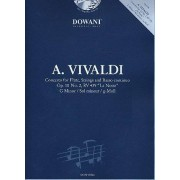 DOWANI Partitions classique Dowani VIVALDI A. - CONCERTO POUR FLÛTE OP. 10/2 RV 439 (LA NOTTE) SOL MIN. + CD Flûte traversière