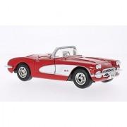 Chevrolet Corvette (C1) red/white 1959 Model Car Ready-made Motormax 1:24
