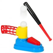 Best Choice Products Kids Toy Pop Up Baseball Batting Practice Set W/ Bat And Ball Loader