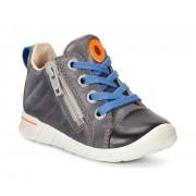 Pantofi baieti Ecco First (Negre / Gri)