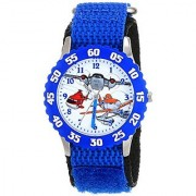 Disney Kids' Planes Fire and Rescue Group W001634 Analog Display Analog Quartz Blue Watch