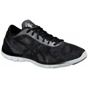 asics Gel Fit Nova Graphic Shoes Women Carbon/Onyx/White 2016 37,5 Triathlon Schuhe