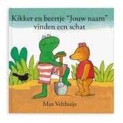 Boek met naam - Kikker en Beer vinden een schat (softcover)