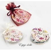 Espejo doble piel escritos y flores con bolsa