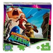 Dreamworks Monsters Vs Aliens: Monster Pit Stop 100 Piece Puzzle