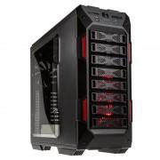 IN WIN GRone - Pleine tour - ATX étendu - pas d'alimentation (ATX12V/ PS/2/ EPS) - noir, rouge - USB/Audio