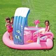 Intex Hello Kitty Inflatable Play Center 83 X 64 X 47.5 or 2.11m X 1.63m X 1.30m for Kids Ages 2+