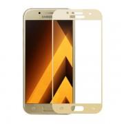 Folie protectie sticla securizata curbata pentru Samsung Galaxy A3 2017 SM-A320, auriu