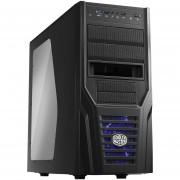 Gabinete Cooler Master Elite 431 Plus USB 3.0 Ventilador Led Azul-Negro