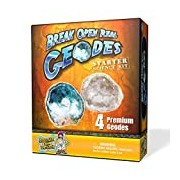 Geode Starter Rock Science Kit - Crack Open 4 Amazing Rocks and Find Crystals!