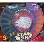 Micro Machines Die Cast Metal Star Wars Millennium Falcon Movable Action Feat...