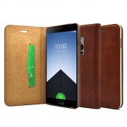 kapaver OnePlus 2 / TWO (2015 Model) Eco Package Stand Feature Premium Wallet Case with Self Magnet Closure Flip Cover (Dark Brown)