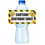 Cakesupplyshop Z9277 Construction Birthday Party Table Decorations 12pack Water Bottle Labels