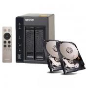 QNAP TS-253A-4G NAS SYSTEM 2-BAY 6TB INKL. 2X 3TB SEAGATE ST3000VN000