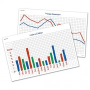 Learning Resource and Write-on Wipe-off Math Graphs Desk Mats