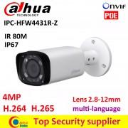 Dahua 4MP IP camera IPC-HFW4431R-Z 2.8mm ~12mm varifocal motorized lens H.265 /H.264network camera 4MP IR 80 M POE cctv camera