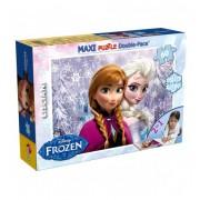 Детски двулицев пъзел 60 части Frozen Lisciani 46881