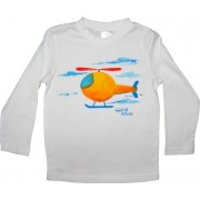 Tricou baieti pictat manual, 3 ani, Helicopter