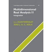 Multidimensional Real Analysis II: Integration v. 2 by J. J. Duistermaat