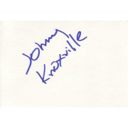 Johnny Knoxville Autographed Index Card