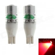 Zweihnder T15 5W 450lm 700nm Red Light LED Car Lights frein - Argent + Blanc (12 ~ 24V, 2 PCS)