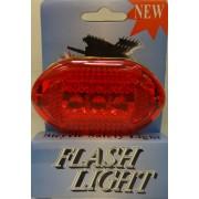 Bicikli lámpa hátsó piros 5 Led- V2000-R